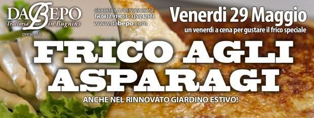 copertina asparagi 620x233 29.05.2015   Serata frico con gli asparagi Da Bepo