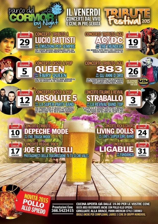 locandina tribute 01 620x876 Tribute Festival, dal 29 maggio al 28 agosto a Udine al Parco del Cormor