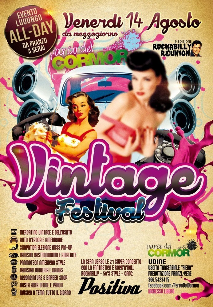 locandina vintage festival 693x1000 Tribute Festival, dal 29 maggio al 28 agosto a Udine al Parco del Cormor