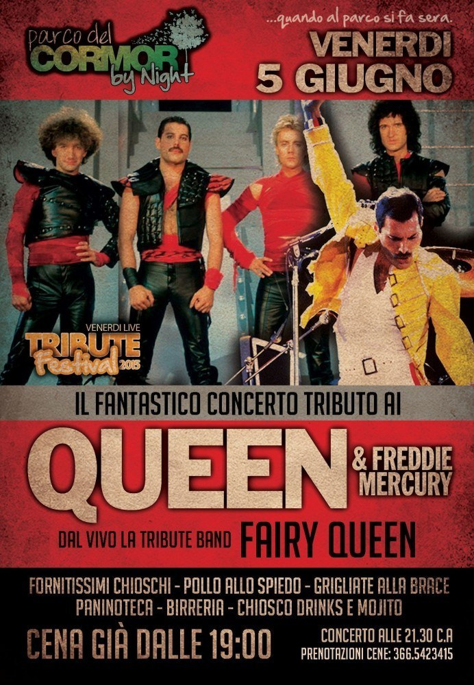 queen 692x1000 Tribute Festival, dal 29 maggio al 28 agosto a Udine al Parco del Cormor