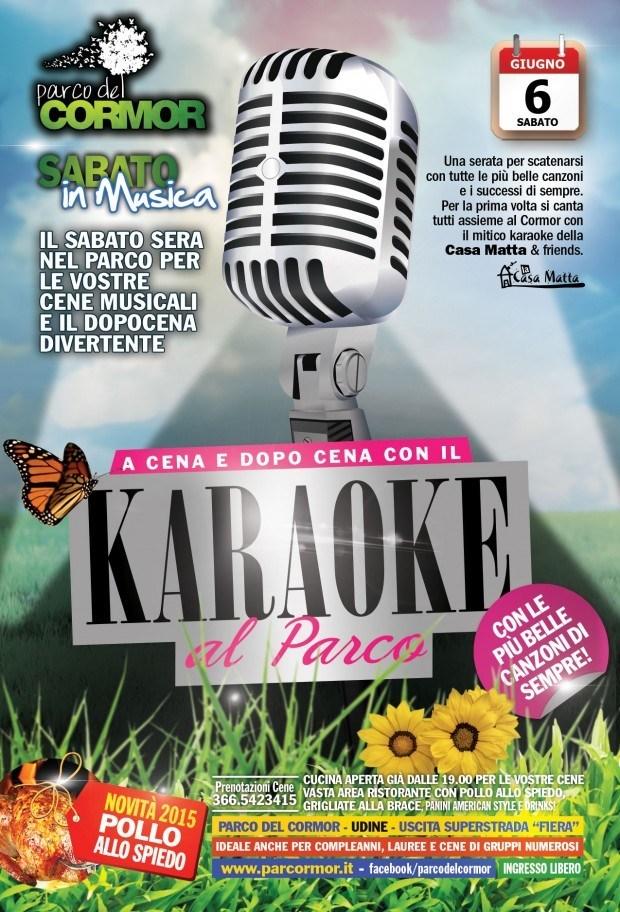 karaoke udine 620x912 Sabato in musica, le serate estive del Parco Del Cormor ogni sabato. Si parte il 6 giugno col karaoke