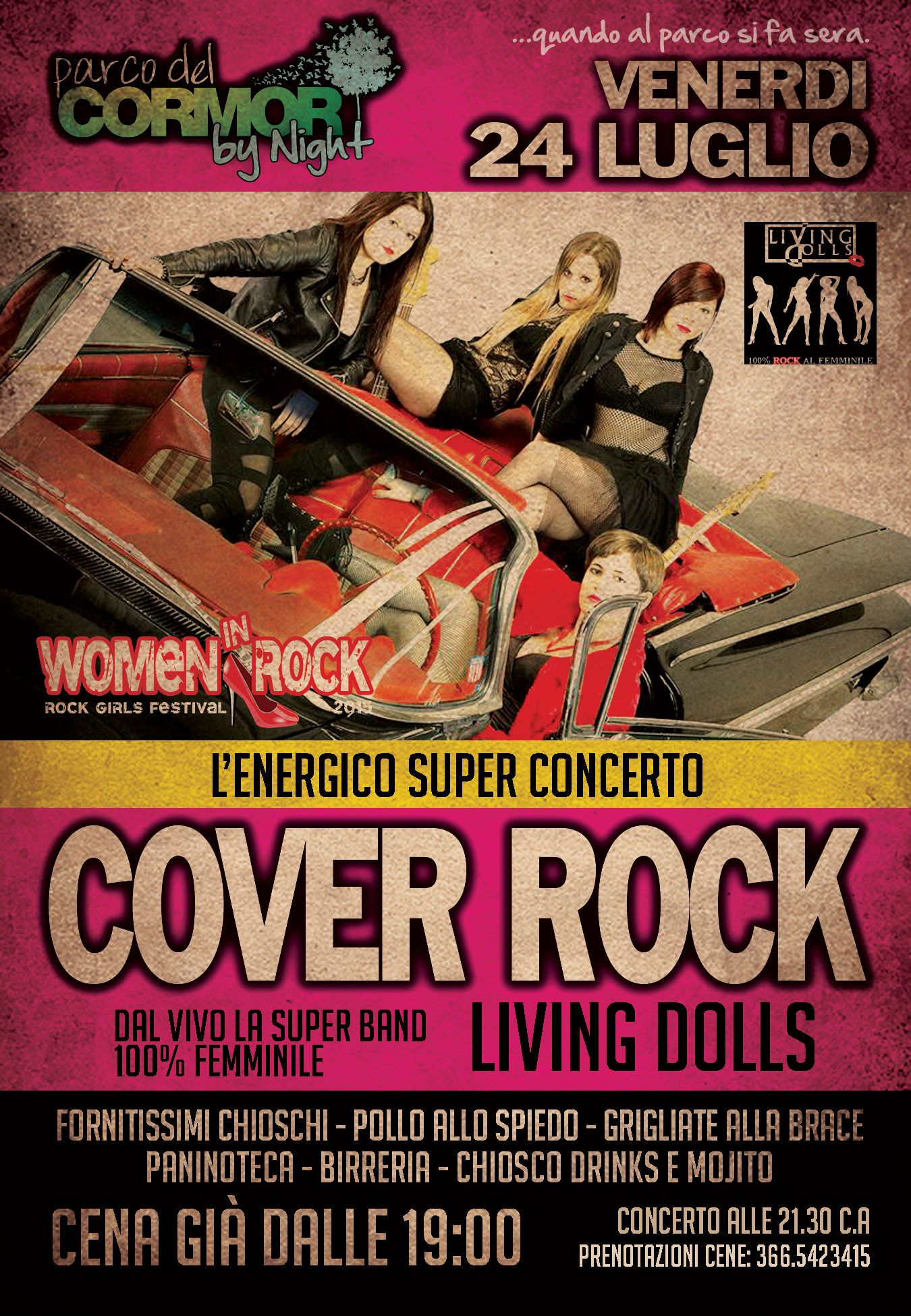 living 24.07.2015   Women in Rock festival, concerto Living Dolls a Udine. Parco del Cormor.