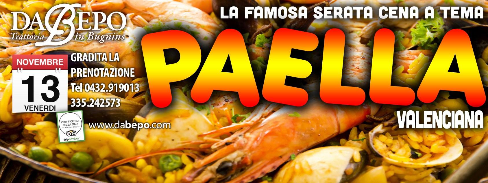 copertina paella 2e 13.10.2015   SERATA PAELLA Trattoria Da Bepo Bugnins