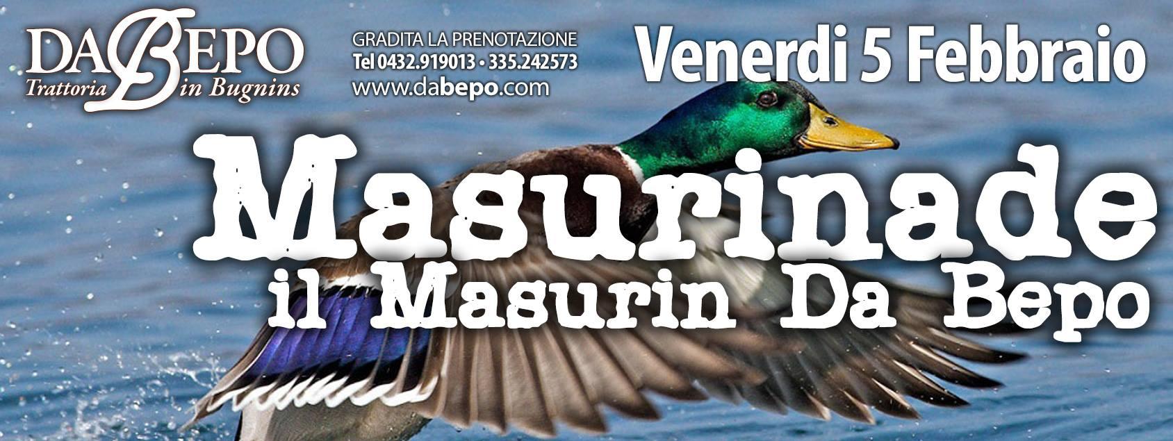 12622465 958741607512417 6075469610860592762 o 05.02.2016   LA MASURINADE, a cena col Masurin. Trattoria Da Bepo Bugnins