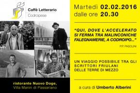 02.02.2016 – Evento su Pasolini al Doge di Villa Manin
