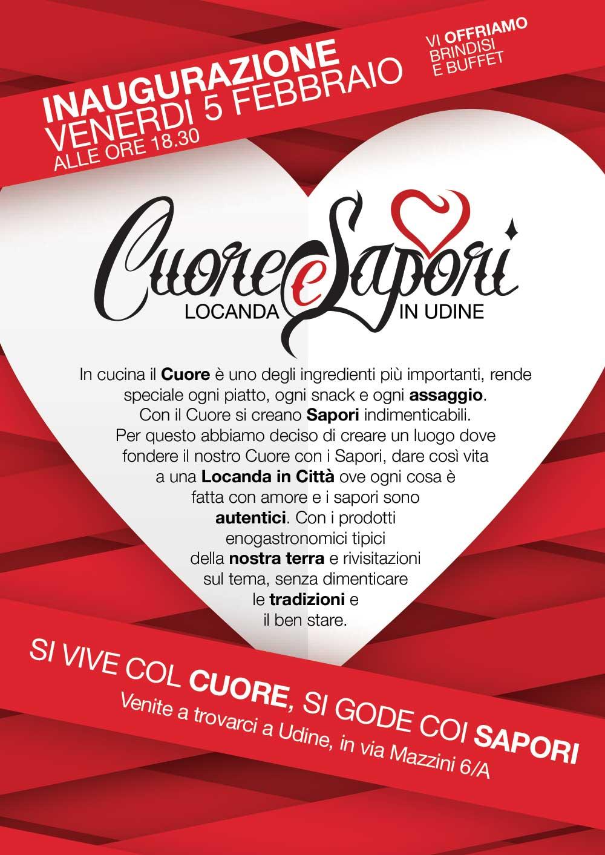 cuore e sapori a 05.02.2016   Inaugurazione Locanda Cuore e Sapori a Udine
