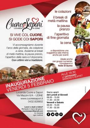 05.02.2016 – Inaugurazione Locanda Cuore e Sapori a Udine