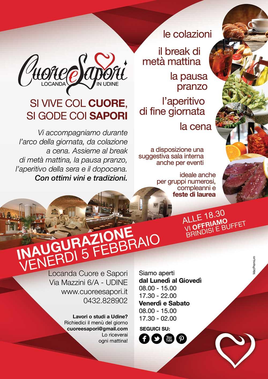 cuore e sapori b 05.02.2016   Inaugurazione Locanda Cuore e Sapori a Udine