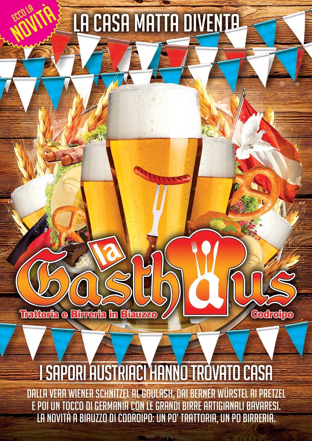 la gasthaus a La Gasthaus, trattoria con piatti austriaci a Codroipo (ex Casa Matta)