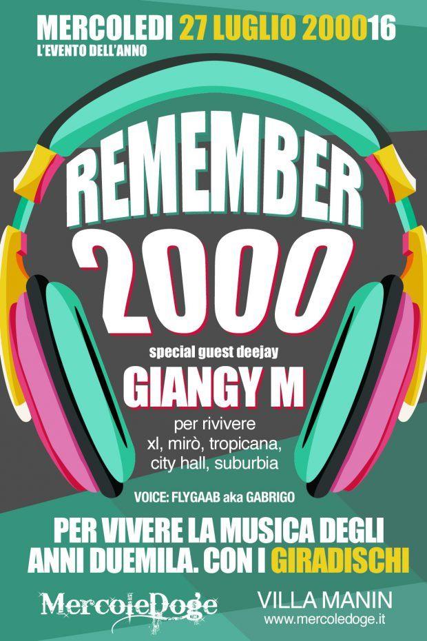 2000 remember 620x930 Remember 2000 Party – Mercoledì 27 Luglio, Villa Manin