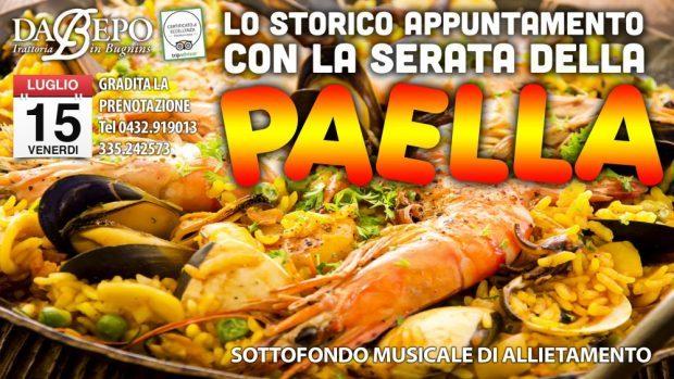 cover paella 620x349 Serata Paella ★ Venerdì 15 Luglio – Trattoria Da Bepo Bugnins