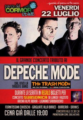 22.07.2016 – Concerto Tributo Depeche Mode al Parco del Cormor Udine