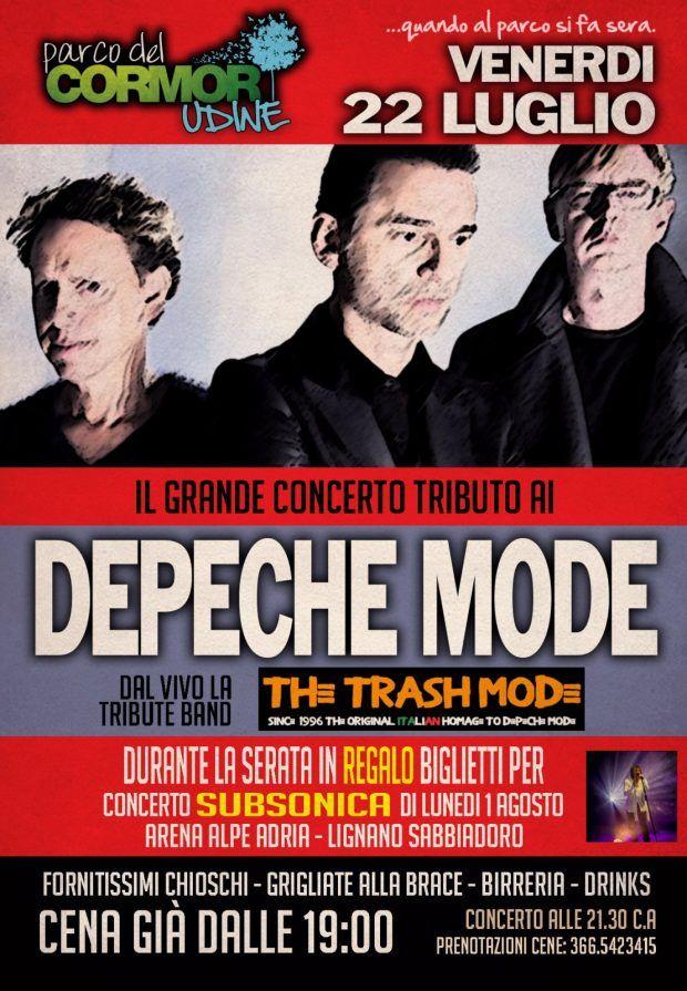 depeche mode 620x895 22.07.2016   Concerto Tributo Depeche Mode al Parco del Cormor Udine