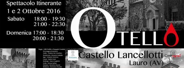 "facebook otello 620x229 ""OTELLO"" di William Shakespeare al Castello Lancellotti, Lauro (provincia Avellino)"