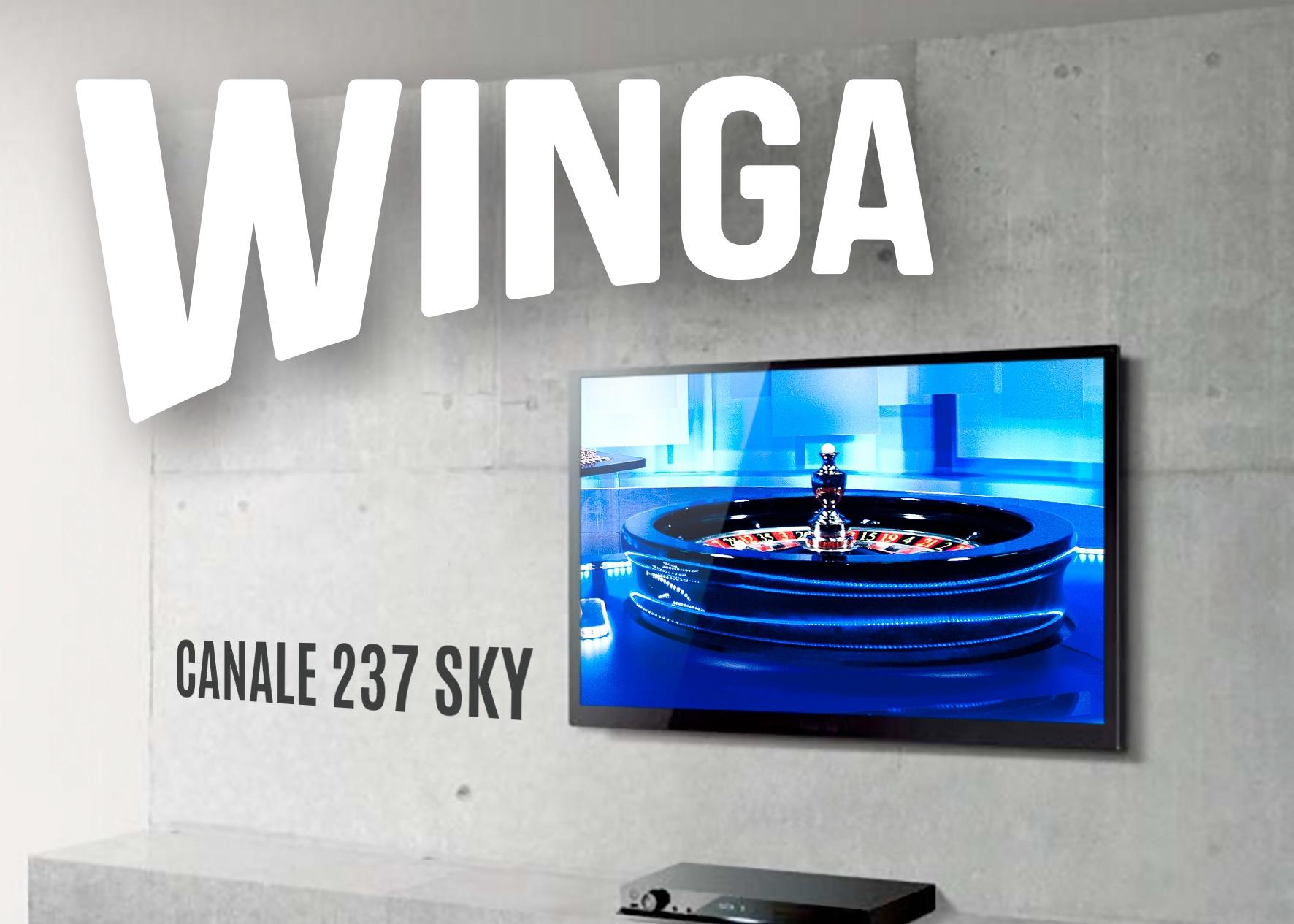immagine wingatv canale237sky Dal 14 dicembre Winga Tv visibile anche su SKY al canale 237 Winga conferma la sua leadership nel mondo del gaming in TV  e lancia la novità della NoStop Roulette