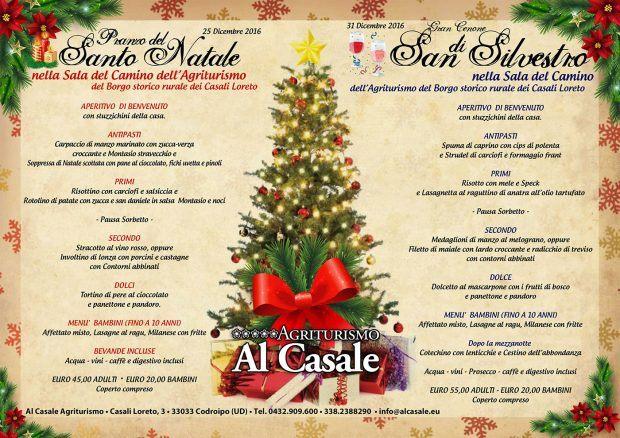 menu natale capodanno casale 2016 620x438 Pranzo di Natale e Cenone di Capodanno all'Agriturismo Al Casale di Codroipo