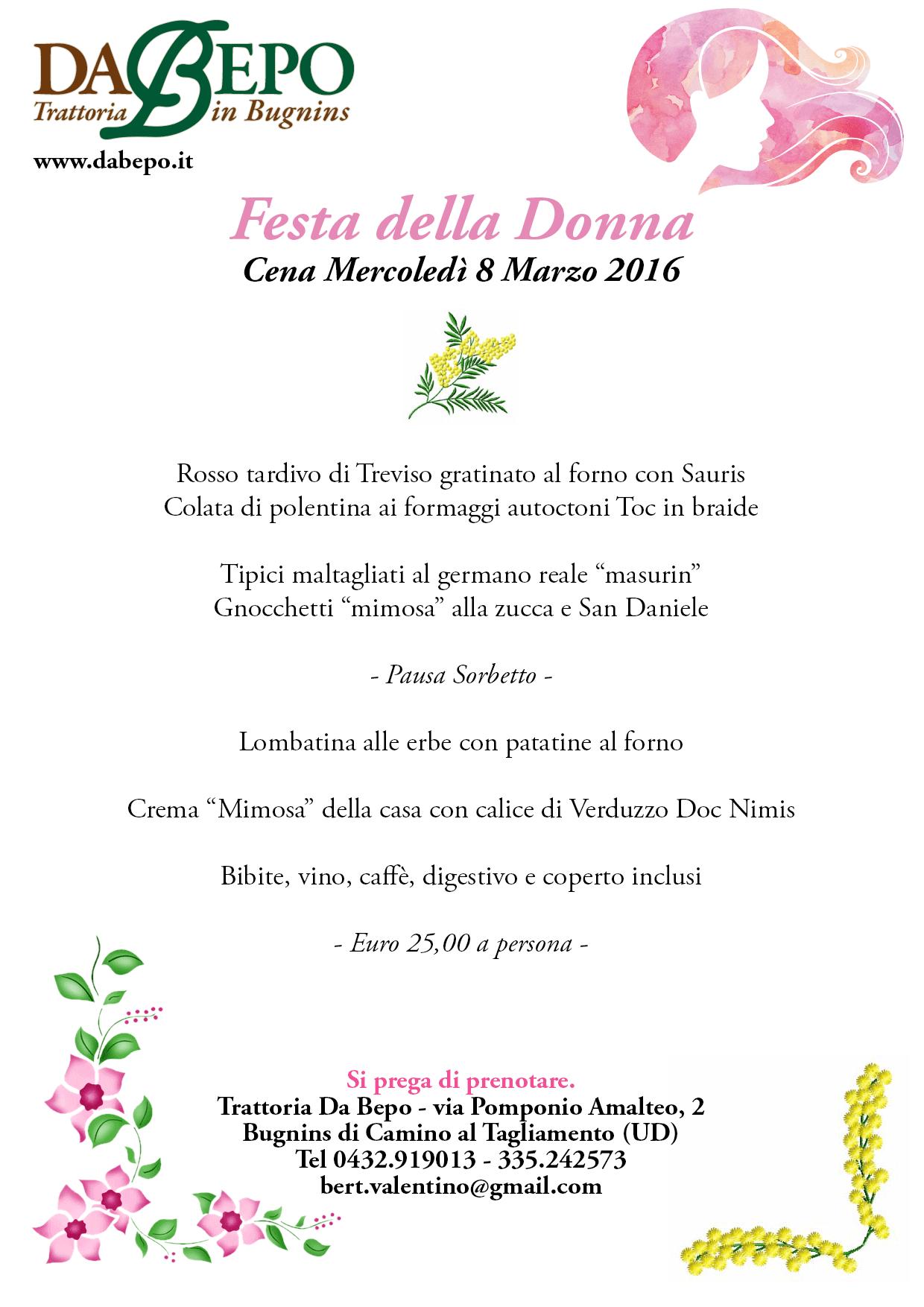 festa donna da bepo 2017 08.03.2017   Da bepo   Festa della donna
