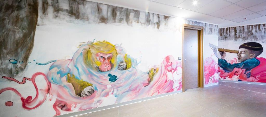 jair martinez 2 11th floor at the nyx milan c marco curatolo lab c3 Da NYX Hotel Milano: lhotel diventa opera darte tra street art e design davanguardia