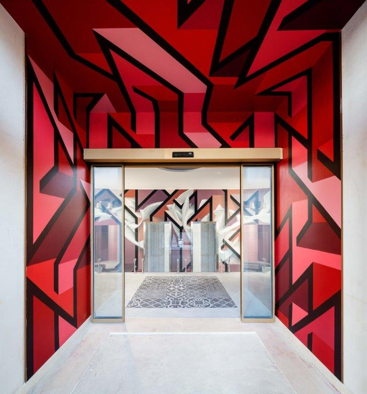 joys peeta entrance c marco curatolo lab c3 Da NYX Hotel Milano: lhotel diventa opera darte tra street art e design davanguardia