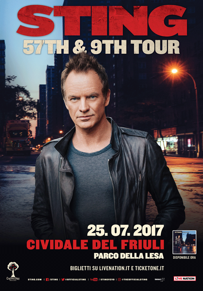 STING – Il cantautore, compositore e attivista britannico in concerto a Cividale del Friuli per Mittelfest 2017