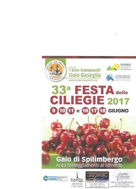 %name Festa delle ciliegie 2017   Gaio di Spilimbergo
