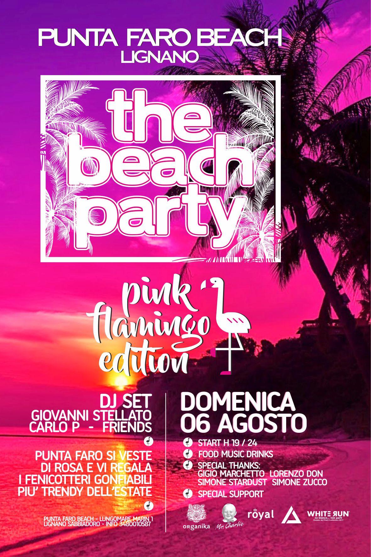 hola pf 2017 06 AGOSTO PINK B R Punta faro Lignano   the beach party 6 agosto DJ set