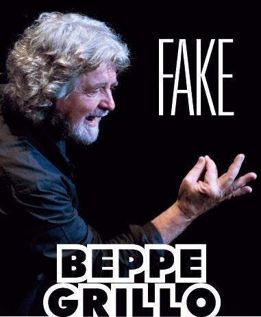 """evento friuli 26 10 207 beppe grillo fake beppe grillo art 26.11.207   BEPPE GRILLO """"Fake"""""""