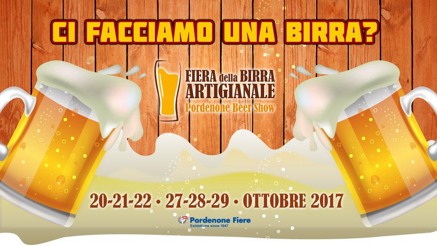 copertina evento fiera birra Fiera della Birra Artigianale   Pordenone Beer Show, 20   21   22   27   28   29 OTTOBRE 2017