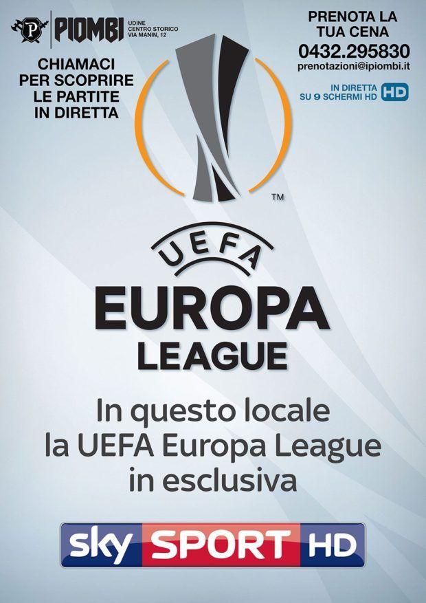 evento friuli europa league in diretta a udine ai piombi locandina europa league generica 620x877 Europa League in diretta a Udine ai Piombi