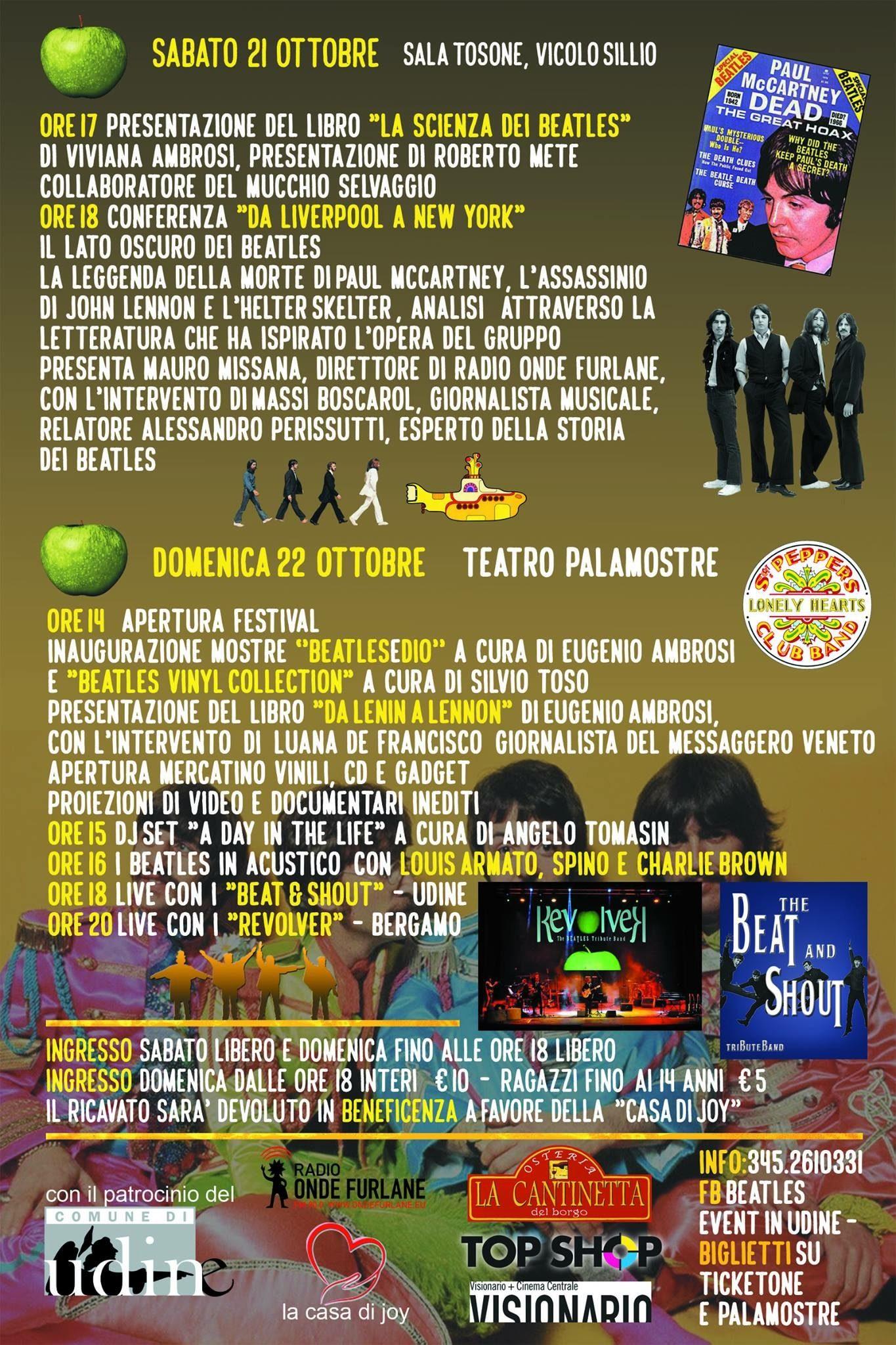 evento friuli image1 22.10.2017   Beatles Udine