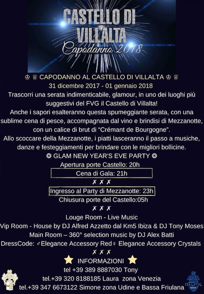 evento friuli schermata 2017 12 06 alle 10.17.01 Capodanno 2018 Al castello di Villalta