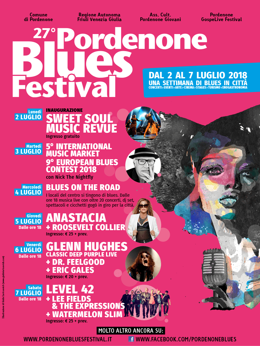 evento friuli pordenone blues festival 2018 pordenone blues festival Pordenone Blues Festival 2018