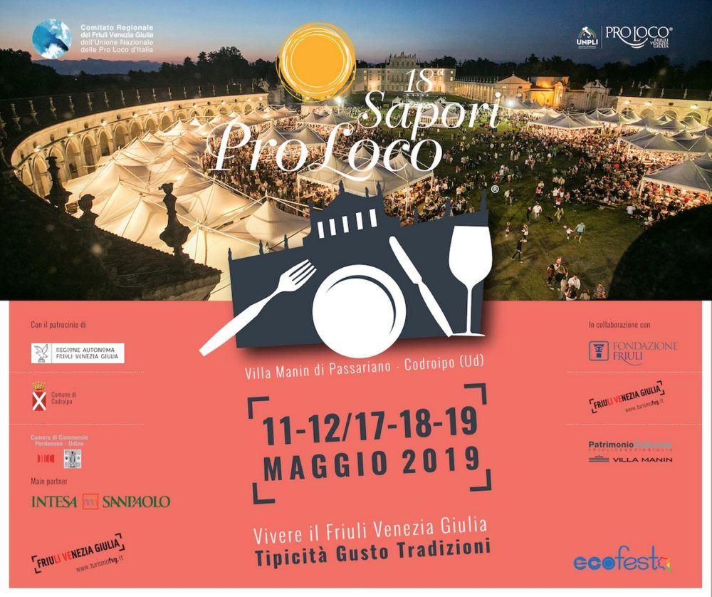 evento friuli sapori proloco 2019 ok 1000x838 Sapori Pro Loco dal 11 al 12 e dal 17 al 19 maggio Villa Manin